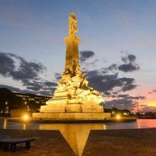 Emplazamiento del monumento a Cristóbal Colón en el nuevo paseo de la costanera