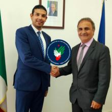 El Sottosegretario agli Esteri Ricardo Merlo recibió en sus oficinas en la Farnesina al Secretario General de Fediba José Stracquadaini